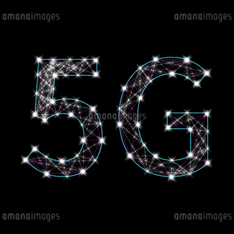 光り輝く5Gの文字のイラスト素材 [FYI01249943]