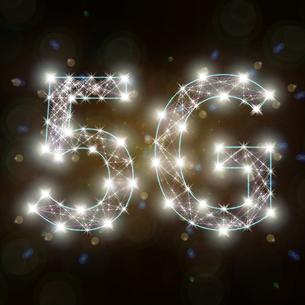 光り輝く5Gの文字のイラスト素材 [FYI01249944]