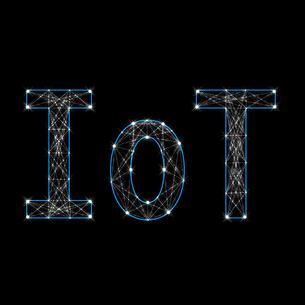 光り輝くIoTの文字のイラスト素材 [FYI01249945]