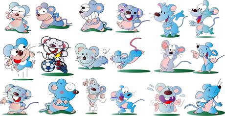 ネズミのイラスト集のイラスト素材 [FYI01249948]