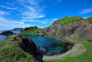 夏の礼文島澄海岬の写真素材 [FYI01249996]