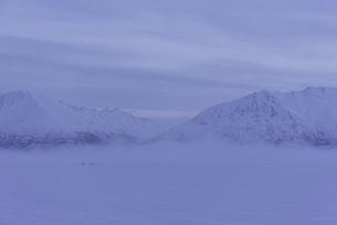 朝靄とアラスカの山の写真素材 [FYI01250035]