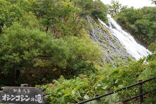 知床八景 オシンコシンの滝の写真素材 [FYI01250121]