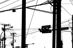 電線のある風景の写真素材 [FYI01250236]
