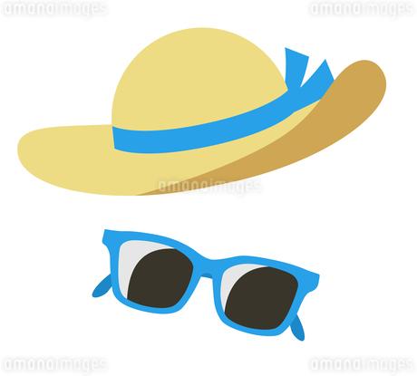 麦わら帽子とサングラスのイラスト素材 [FYI01250243]