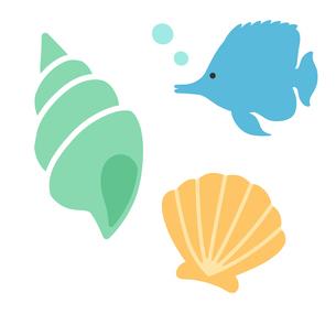 貝殻と熱帯魚のイラスト素材 [FYI01250252]