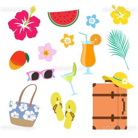 夏の休暇 アイコンセットのイラスト素材 [FYI01250268]