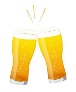 ビールで乾杯のイラスト素材 [FYI01250272]