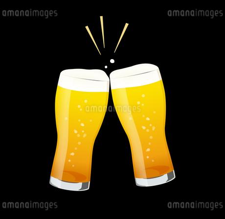 ビールで乾杯のイラスト素材 [FYI01250274]