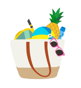 夏のレジャー 鞄のイラスト素材 [FYI01250279]