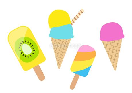 アイスクリーム セットのイラスト素材 [FYI01250292]