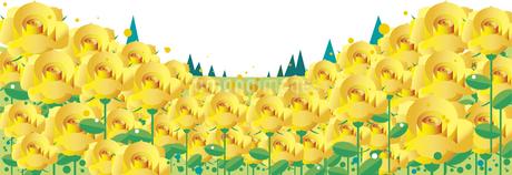 黄色い薔薇の背景のイラスト素材 [FYI01250921]