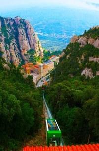 スペイン・モンセラットの頂上からの風景の写真素材 [FYI01250942]