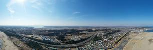 大洗町の空撮の写真素材 [FYI01251151]