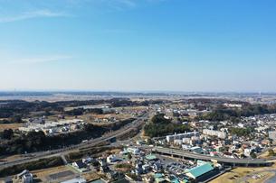 大洗町の空撮の写真素材 [FYI01251152]