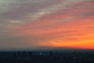 朝焼けの街の写真素材 [FYI01251163]