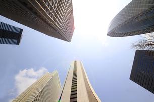 新宿高層ビル群と青空の写真素材 [FYI01251225]