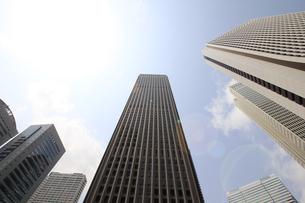 新宿高層ビル群と青空の写真素材 [FYI01251228]