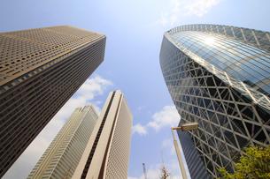 新宿高層ビル群と青空の写真素材 [FYI01251230]
