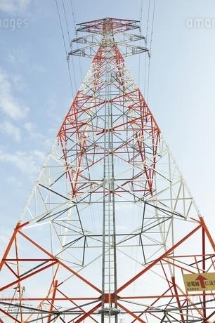 紅白の鉄塔の写真素材 [FYI01251397]