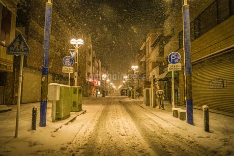 雪が降る街のイメージの写真素材 [FYI01251538]
