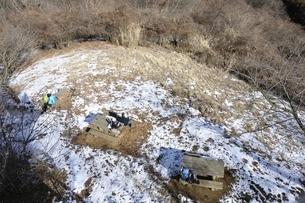 冬の山頂の風景の写真素材 [FYI01251784]