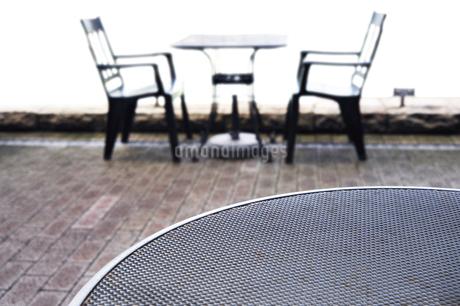 静かなカフェテラスの写真素材 [FYI01251944]