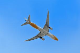 離陸した旅客機の写真素材 [FYI01252148]