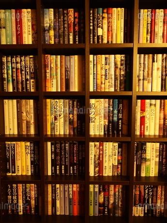 小説の本棚の写真素材 [FYI01252200]