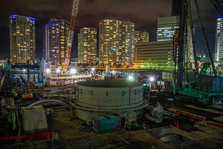 みなとみらいの工事現場のイメージの写真素材 [FYI01252256]