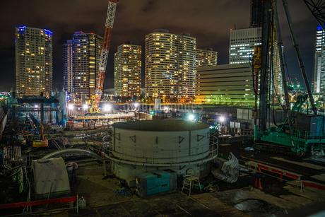 みなとみらいの工事現場のイメージの写真素材 [FYI01252257]