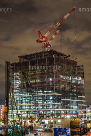 横浜みなとみらいの工事中のビルの写真素材 [FYI01252259]