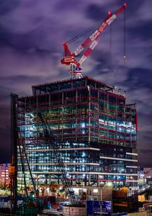 みなとみらいの建設中のビルのイメージの写真素材 [FYI01252261]