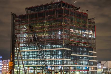 みなとみらいの建設中のビルのイメージの写真素材 [FYI01252262]