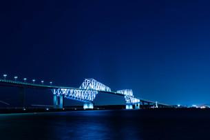ゲートブリッジの夜素材の写真素材 [FYI01252634]
