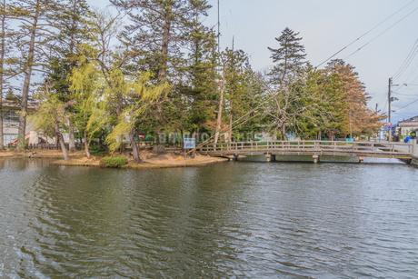 春の米沢城跡の風景の写真素材 [FYI01252760]