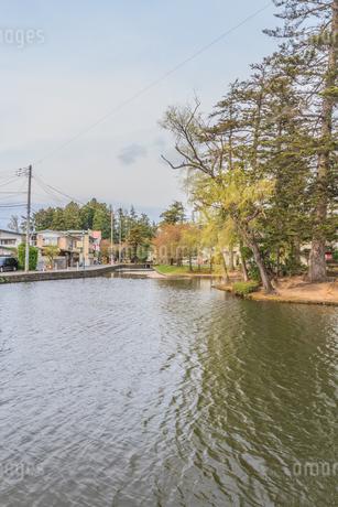 春の米沢城跡の風景の写真素材 [FYI01252761]