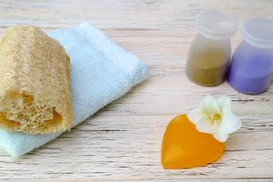 ハート型の石鹸の写真素材 [FYI01252786]