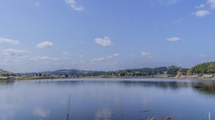 春の高滝湖の風景の写真素材 [FYI01253094]