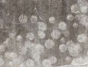 野球のボールの壁当ての跡の写真素材 [FYI01253449]