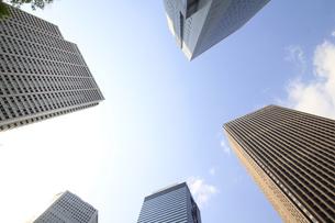 新宿高層ビル群と青空の写真素材 [FYI01253466]
