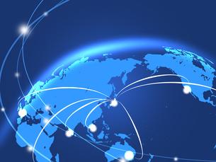 ビジネス背景 日本経済 世界地図 世界販売 貿易のイラスト素材 [FYI01253582]