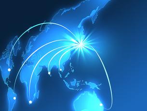 ビジネス背景 日本経済 世界地図 世界販売 貿易のイラスト素材 [FYI01253584]