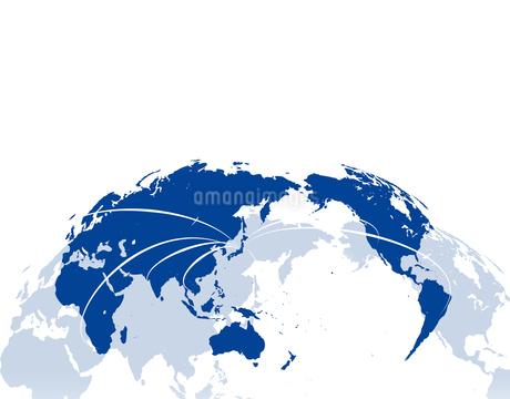 ビジネス背景 日本経済 世界地図 世界販売 貿易のイラスト素材 [FYI01253585]