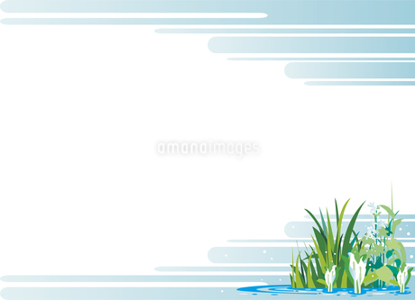 初夏の水辺の背景のイラスト素材 [FYI01253626]