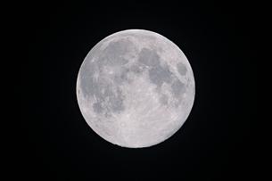 平成最後の満月の写真素材 [FYI01253631]