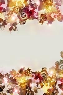 グラフィカルな花のグラフィック素材の写真素材 [FYI01254281]