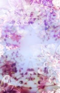 グラフィカルな花のグラフィック素材の写真素材 [FYI01254287]