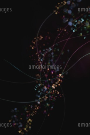 光のアブストラクトCGイメージの写真素材 [FYI01254317]