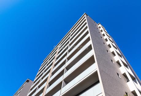 青空とマンションの写真素材 [FYI01254424]